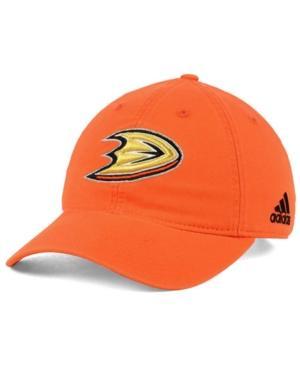 Adidas Originals Adidas Anaheim Ducks Core Slouch Cap In Orange