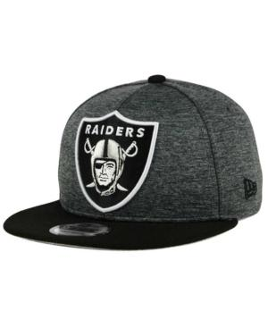 New Era Oakland Raiders Heather Huge 9Fifty Snapback Cap In Heather Graphite/Black