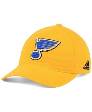 Adidas Originals Adidas St. Louis Blues Core Slouch Cap In Gold