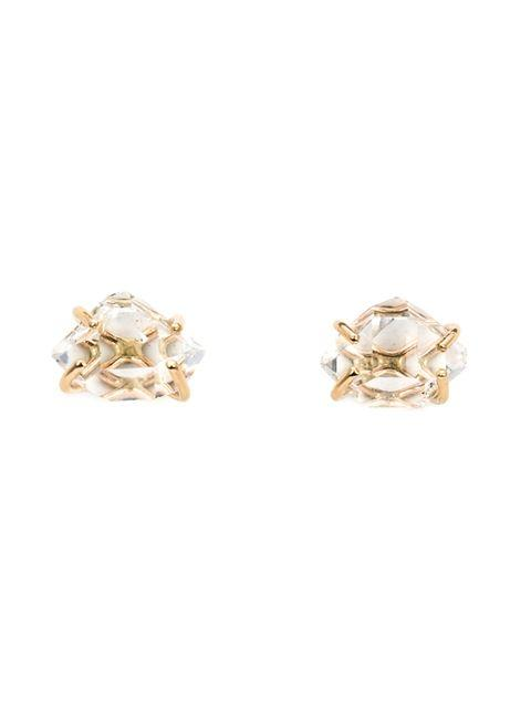 Melissa Joy Manning Herkimer Diamond Post Earrings - Metallic