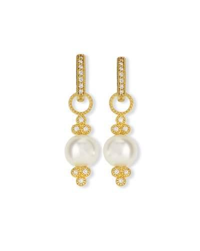 Jude Frances Small 18K Gold Provence Pearl & Diamond Earring Charms