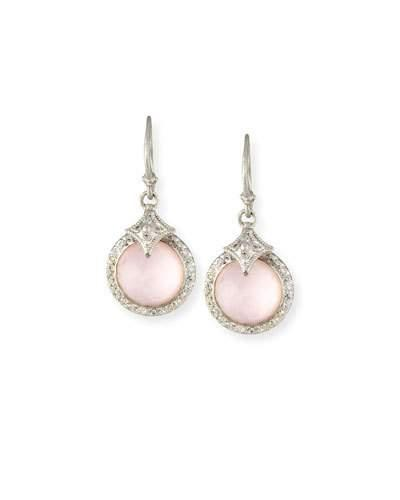 Armenta New World Rose Doublet Earrings With Diamonds In Silver