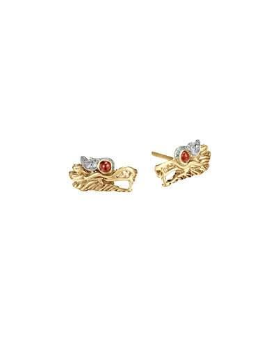 John Hardy Batu Naga 18K Gold Extra-Small Dragon Stud Earrings