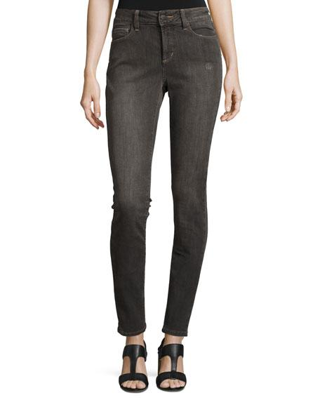 Nydj Ami Distressed Super-Skinny Jeans, Dorchester In Dorchester(Dk Gry