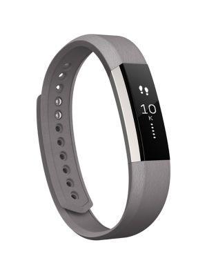 Fitbit Alta Leather Wristband In Graphite