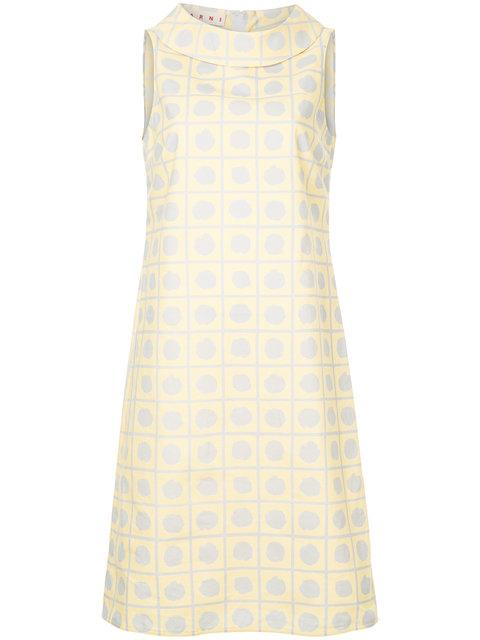 Marni Cowl Neck Shift Dress