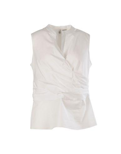 Elie Tahari Solid Color Shirts & Blouses In White