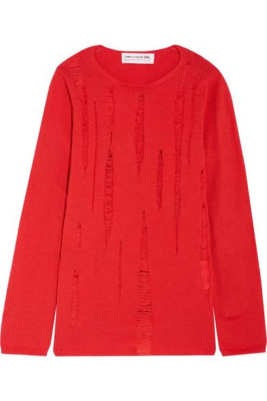 Comme Des Garcons Girl Distressed Knitted Sweater
