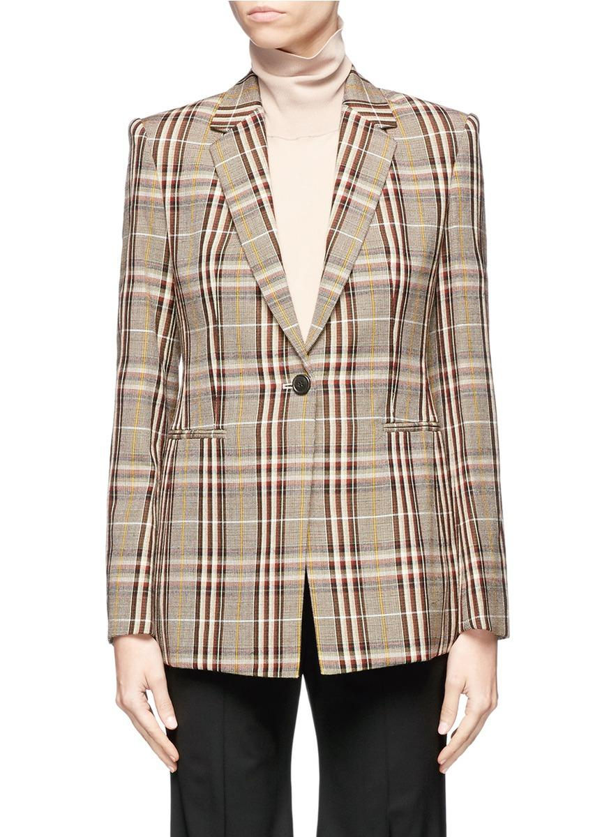 Theory 'Power' Virgin Wool Check Plaid Suiting Jacket