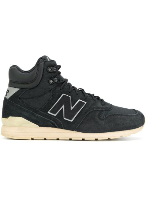New Balance 996 Black Suede And Fabric Sneakers