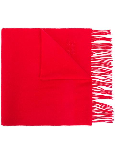 Moschino Fringed Scarf In Red