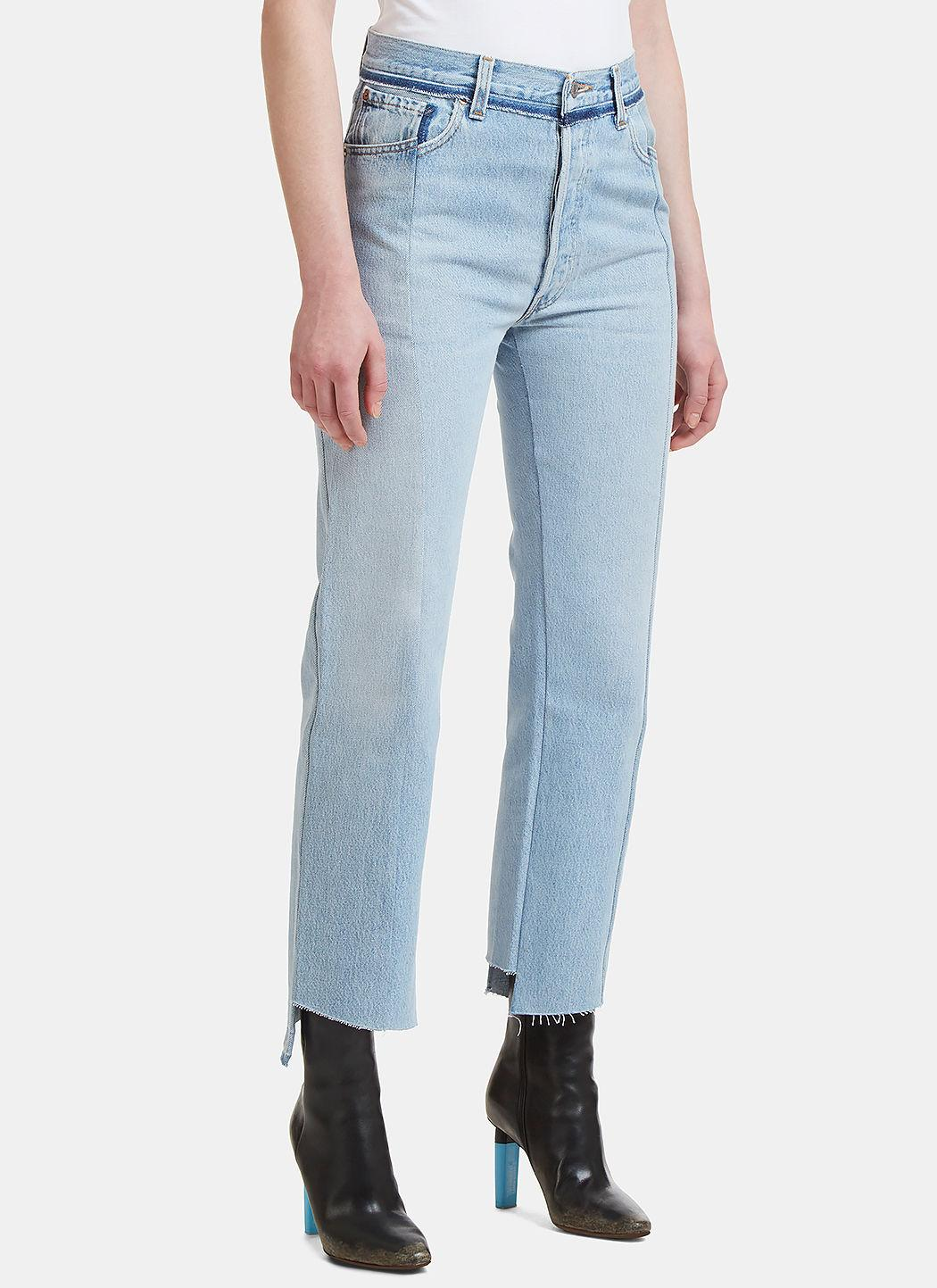 Vetements Reworked Push Up Jeans In Blue