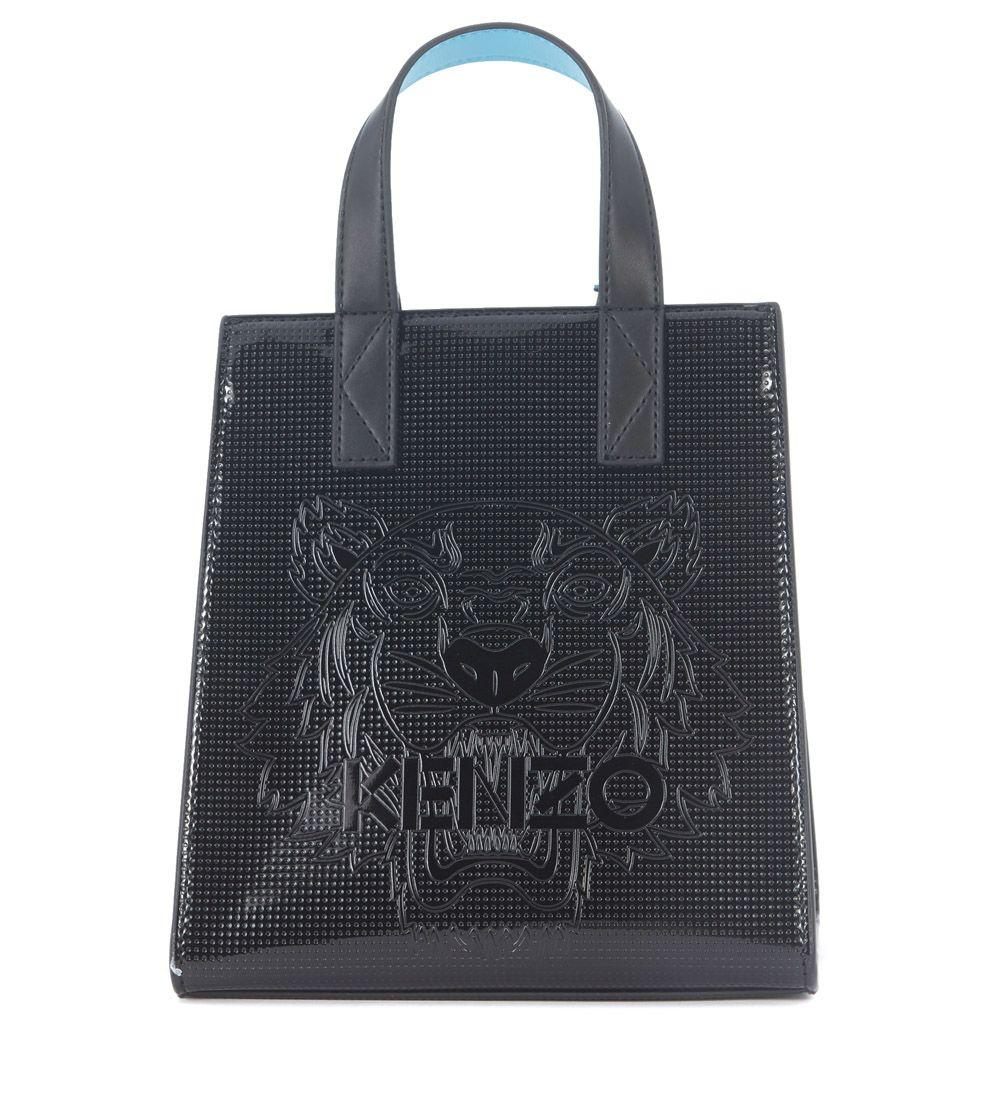 Kenzo Black Rubber Bucket Bag In Nero