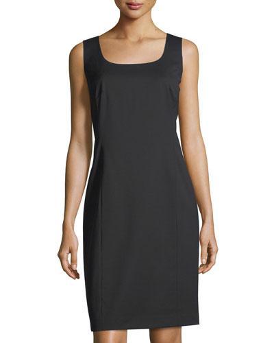 Lafayette 148 Carol Sleeveless Sheath Dress In Black