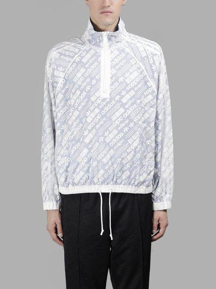 Adidas Originals By Alexander Wang Adidas By Alexander Wang White Reversible Windbraker In In Colaboration With Alexander Wang
