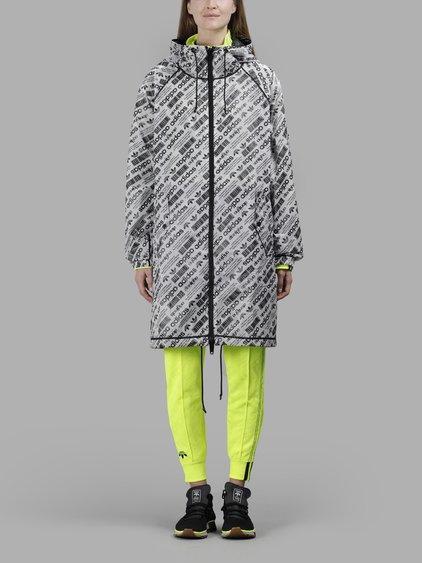Adidas Originals By Alexander Wang Adidas By Alexander Wang Black And White Reversible Parka Jacket In In Collaboration With Alexander Wang