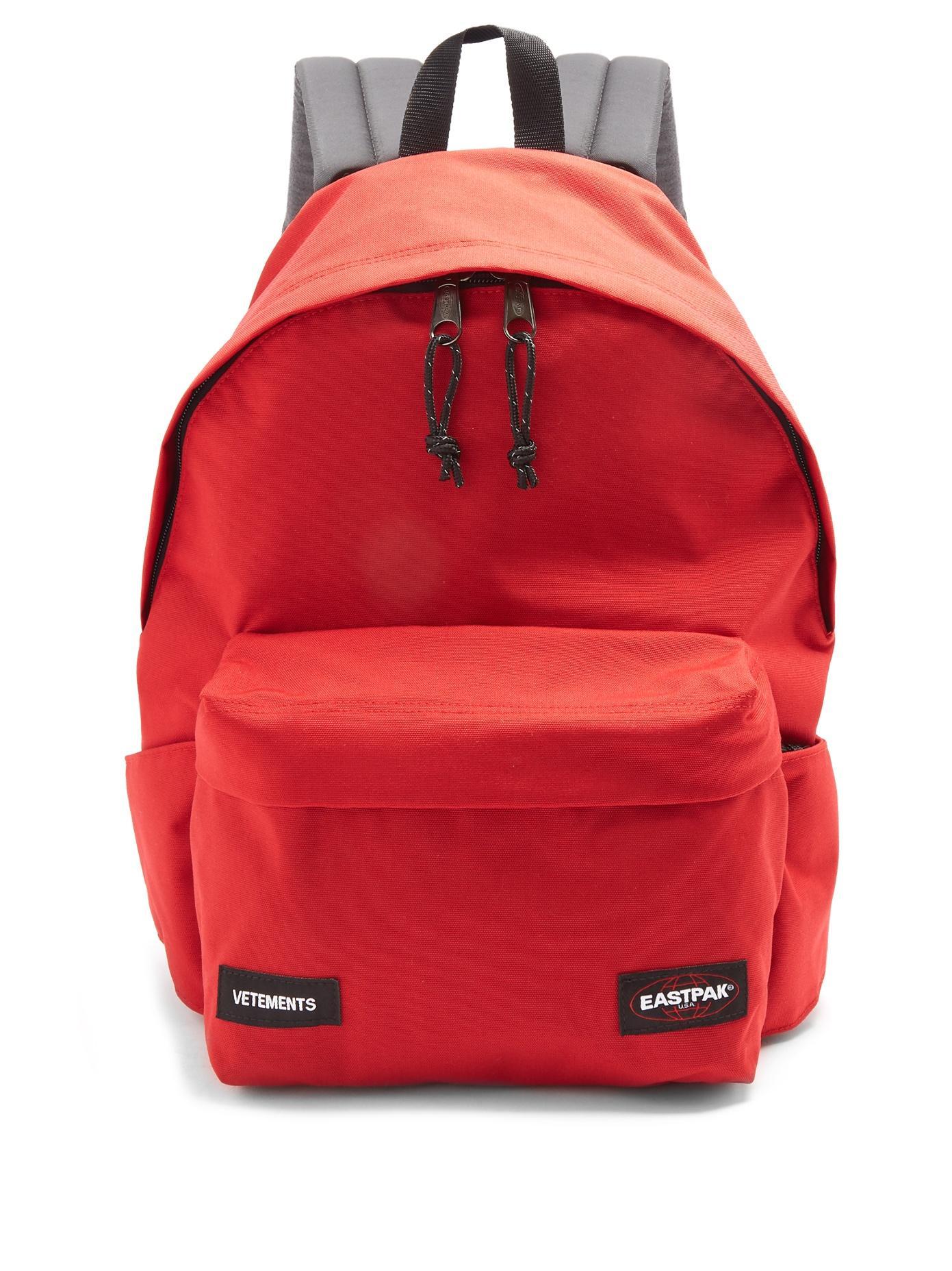 Vetements X Eastpak Backpack In Red