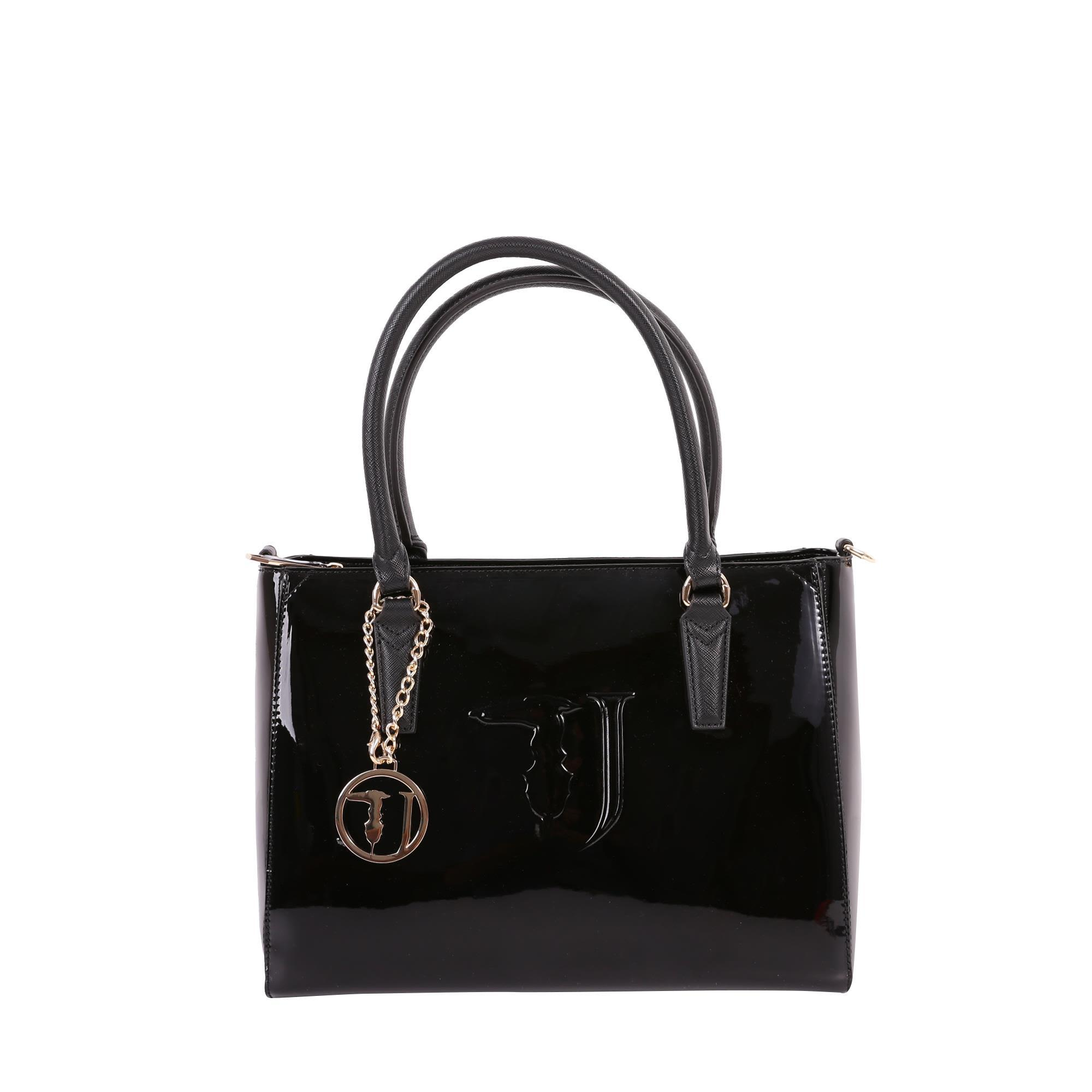 Trussardi Ischia Mirror Bag In Black
