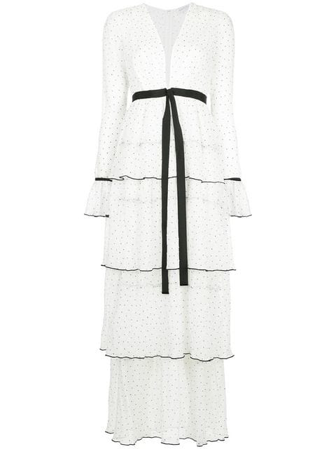 Alice Mccall Now Or Never Tiered Long Dress In White