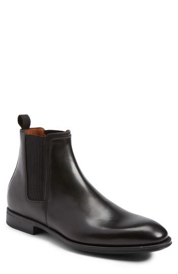 Aquatalia Damon Chelsea Boot In Black Leather