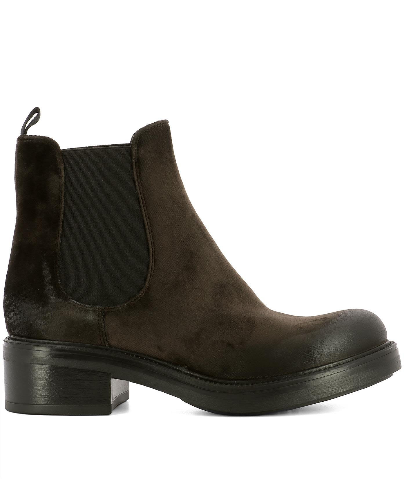 Strategia Brown Suede Ankle Boots