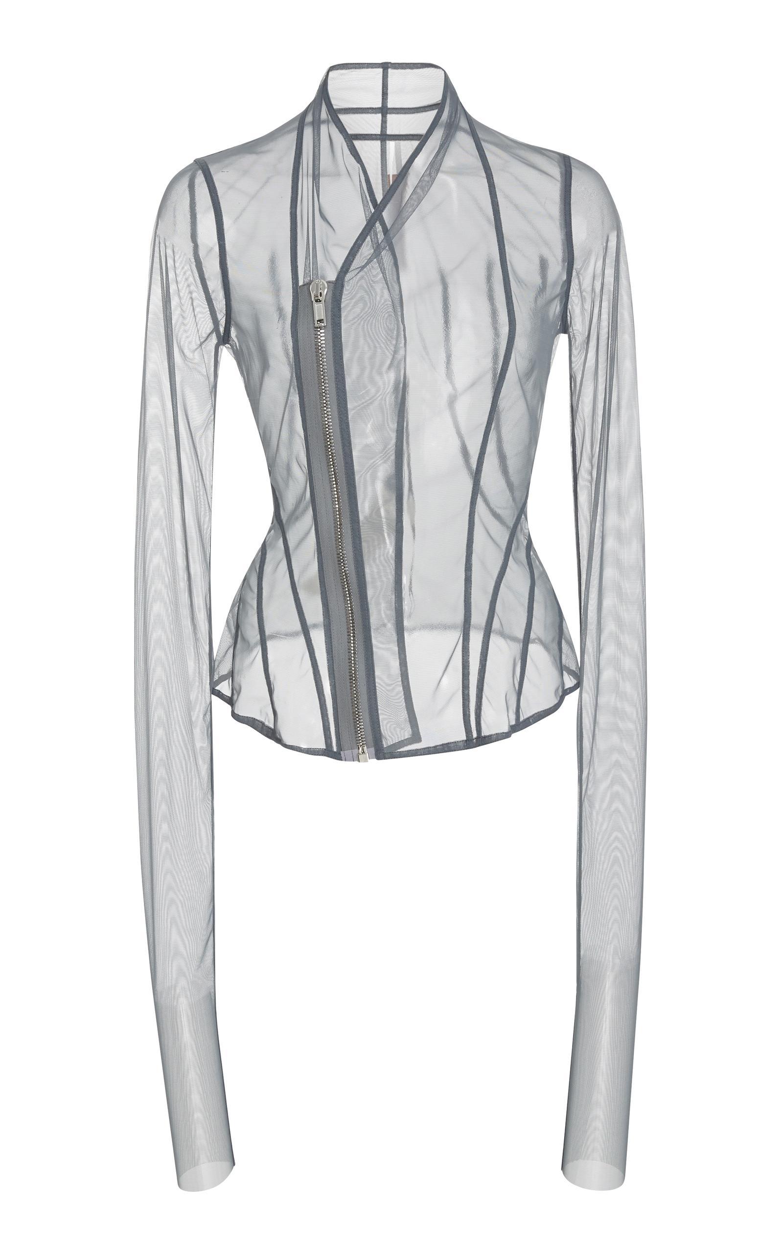 Rick Owens Tulle Jacket In Grey