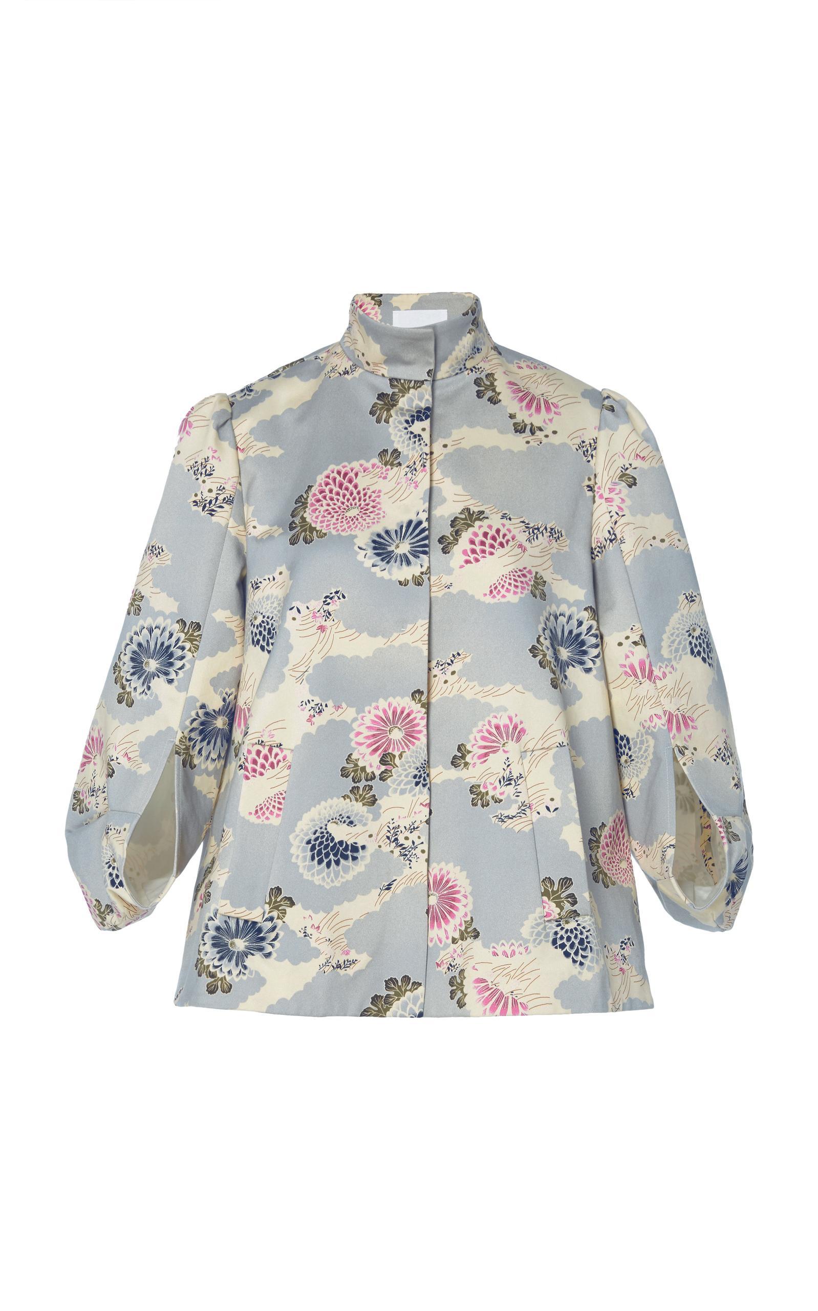 Co Bonded Satin Printed Jacket