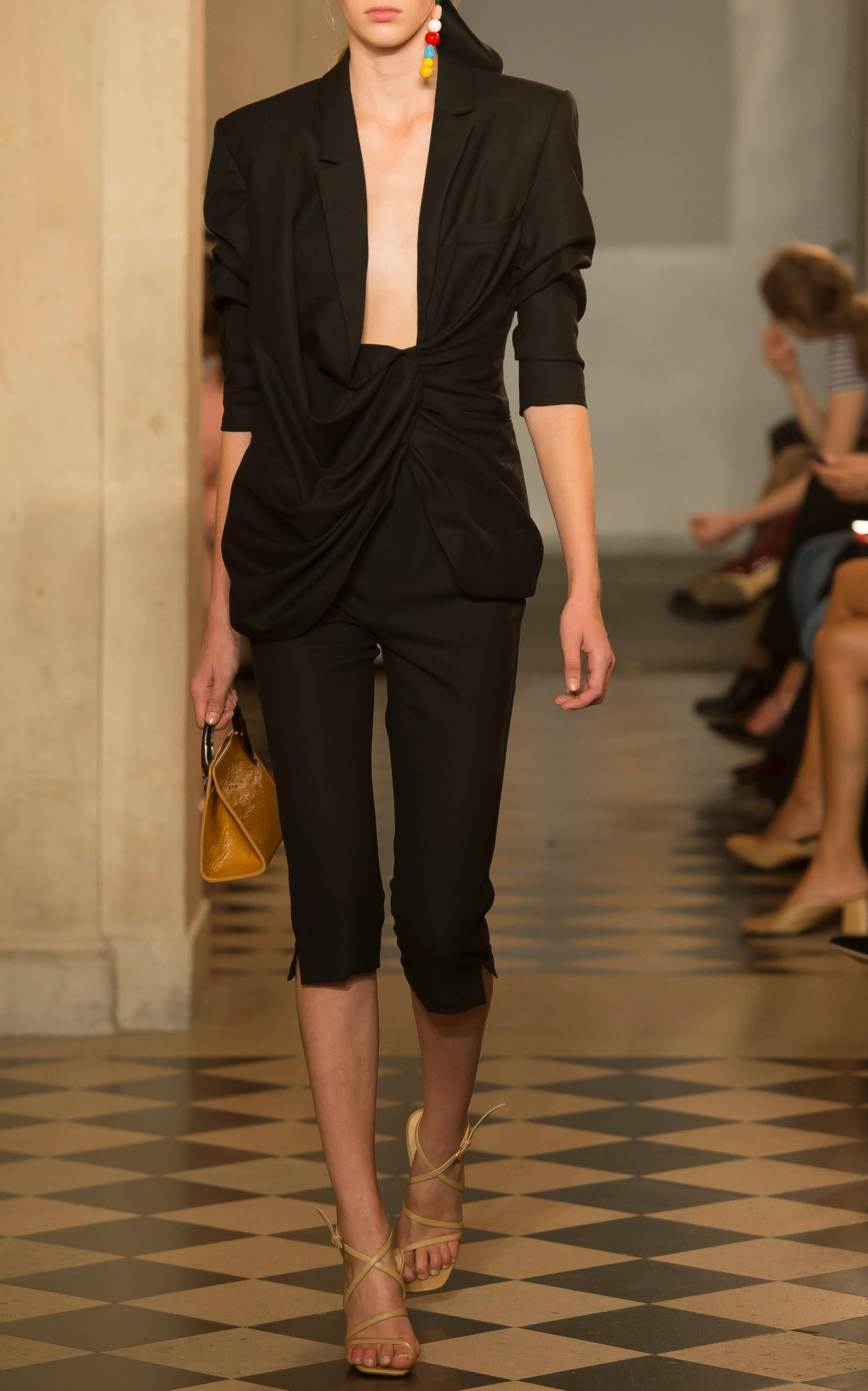 Jacquemus Cropped Tailored Trousers In Black