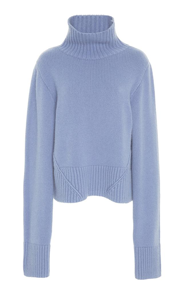 Khaite Wallis Cashmere Sweater In Blue