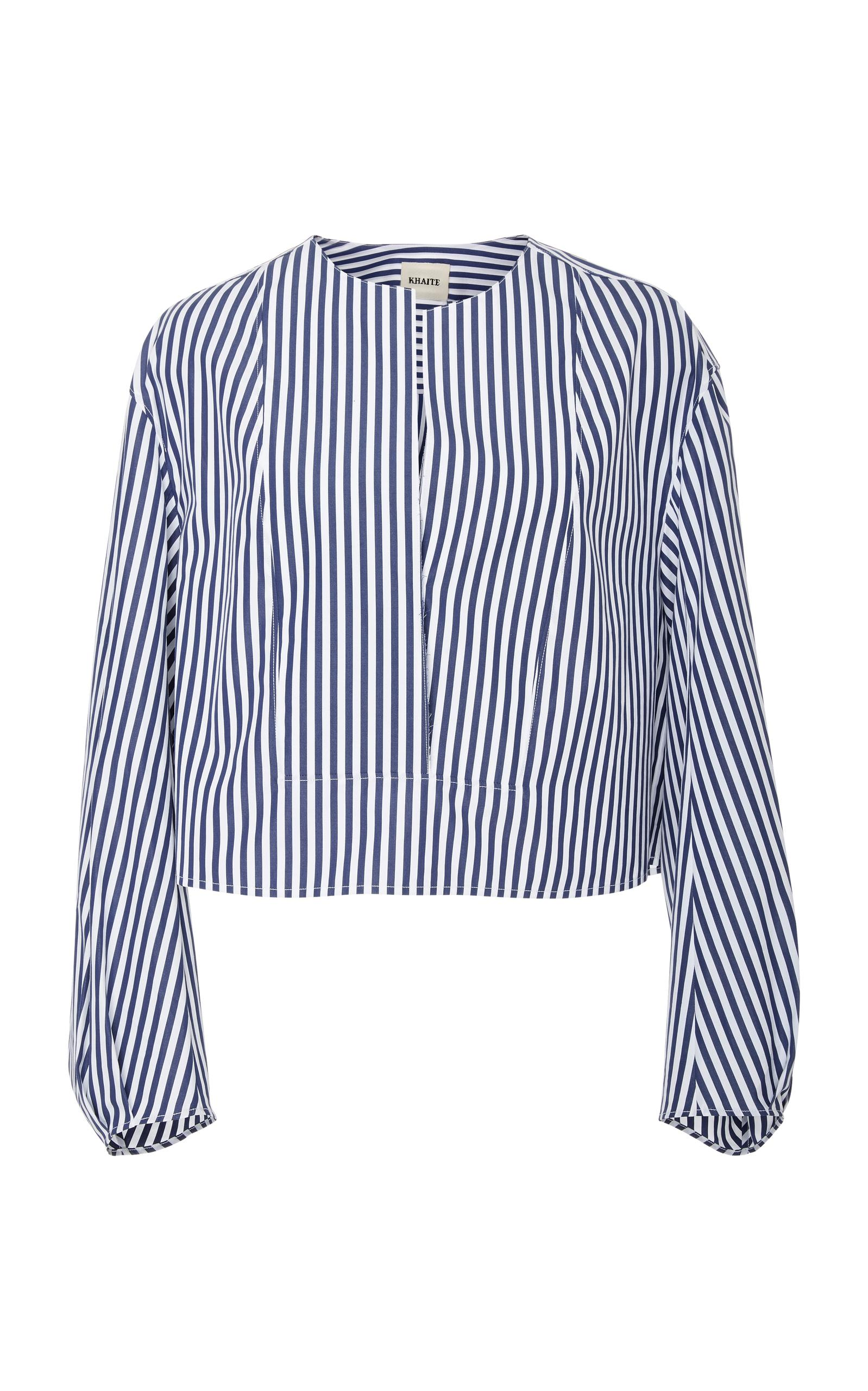 Khaite Dorothy Poplin Top In Stripe