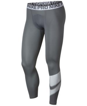 Nike Men's Pro Compression Leggings In Cool Grey