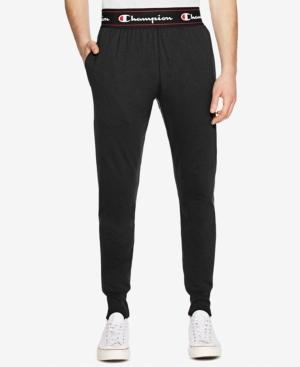 Champion Men's Exposed Waistband Sweatpants In Black