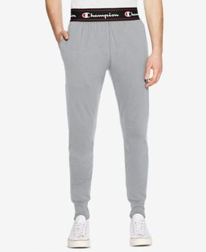 Champion Men's Exposed Waistband Sweatpants In Oxford Gray