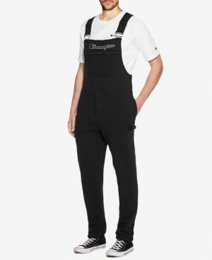 Champion Men's Super Fleece Overalls In Black