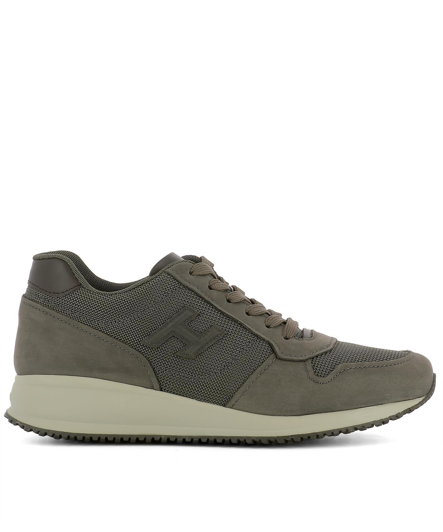 Hogan Grey Fabric Sneakers
