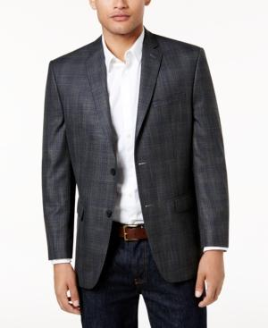 Andrew Marc Marc New York By  Men's Slim-Fit Gray Plaid Sport Coat In Grey