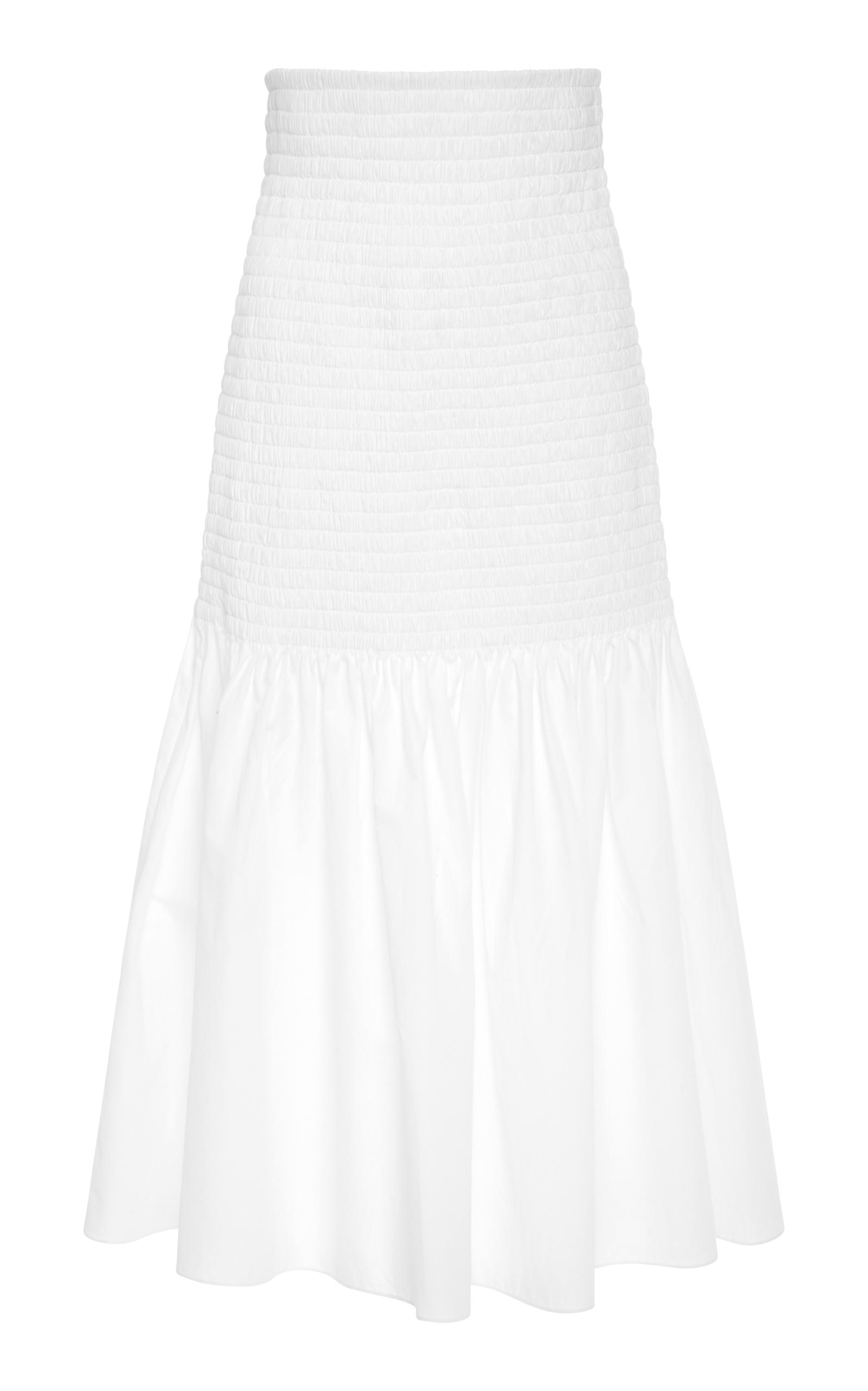 Rosetta Getty Cotton Skirt In White