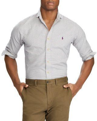Polo Ralph Lauren Standard Fit Plaid Button-Down Shirt In Beige / Teal