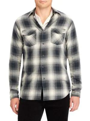 Polo Ralph Lauren Rancher Western Button-Down Shirt In Cream Multi