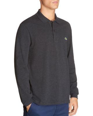 Lacoste Long Sleeve Polo Shirt In Cachou Blue