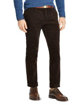 Polo Ralph Lauren Stretch Slim Fit Corduroy Pants In Antique Brown