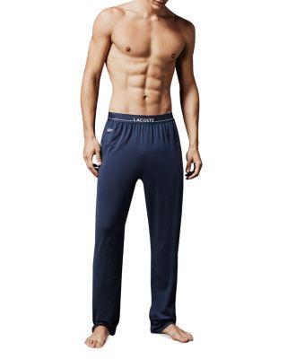 Lacoste Tencel Lounge Pants In Mood Indigo