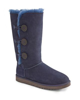 Ugg Bailey Button Triplet Boots In Navy