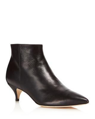 Kate Spade Olly Kitten Heel Ankle Booties In Black
