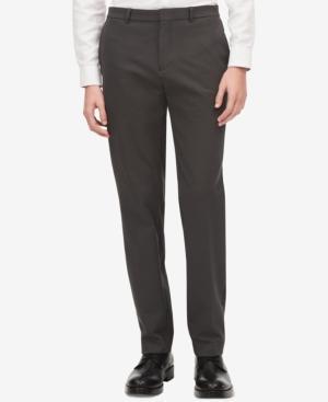 Calvin Klein Men's Infinite Tech Suit Pants In Gunmetal Hthr