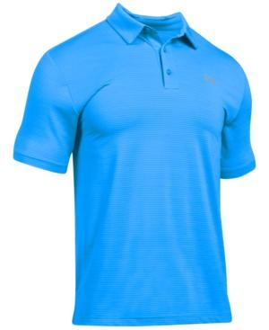 Under Armour Men's Playoff Performance Striped Golf Polo In Mkb-Mkb-Oc