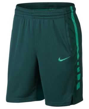 """Nike Men's Elite Dri-Fit 9"""" Basketball Shorts In Dk Atomic Teal"""
