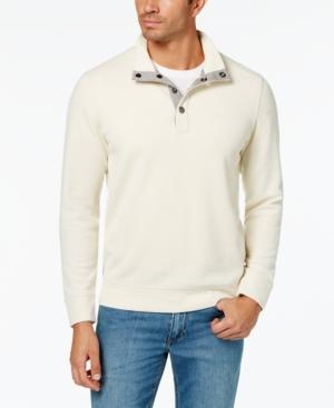 Tommy Bahama Men's Cold Springs Reversible Mock-Collar Sweater In Winter Whi