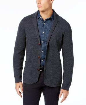 Tommy Bahama Men's Wool Cardigan Blazer In Charcoal H