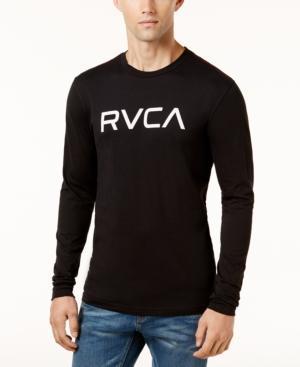 Rvca Men's Big Logo Shirt In Black